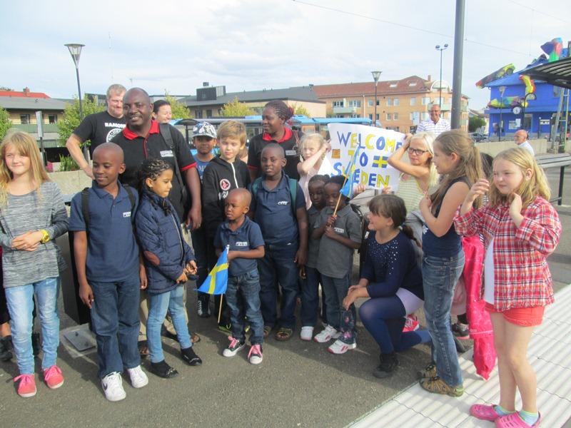 Kings pupils in Sweden on Visitation